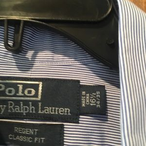 Polo by Ralph Lauren blue striped long sleeve